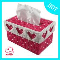 DIY Three-dimensional embroidery hot-selling 3d cross stitch new arrival box tissue pumping box diamond print