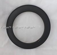FULLFUN 88mm 28mm wide Clincher Carbon Rims 700C Road Bicycle Full Carbon Wheels 3K Matte One Piece Basalt Brake Surface U Shape