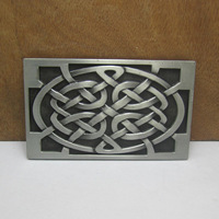 Western celtic belt buckle with pewter finish FP-03510 suitable for 4cm wideth belts with continous stock free shipping
