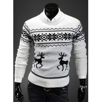 2014 Winter Fashion Designer Men Male Sweater Jumper Deer Printed Pullover