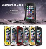 Love Mei Waterproof Case Bag For iPhone 6 4.7 6 Plus 5.5 Inch Shockproof Dirtproof  Phone Cover Metal Aluminum Gorilla Glass