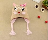 2015 New Kids Winter cap Sika Deer Knitted hat Original order Of Jo*n Knit Cap 3 size 50-54cm