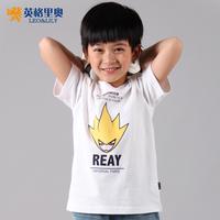 2014 new summer children's short-sleeved t-shirt boys  big virgin sports t-shirt