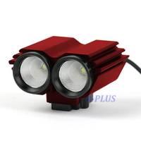 Cheap Sale New 2000-lumen 5 Modes Dual Head Bicycle Bike light & Accessories With 2 Cree XM-L U2 LEDs Red DZ88 TK1138 3F