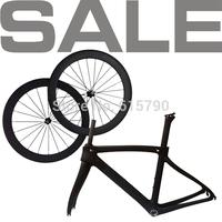 a set NEW F8 carbon frame road bike wheels 50mm clincher