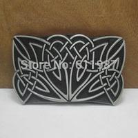 Western celtic belt buckle with black coating finish FP-03507 suitable for 4cm wideth belt