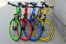 X12 26 inch colorful double disc road  bicicleta Mountain Bike mountain bicycle folding bike Folding bicycles(China (Mainland))