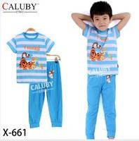 pajama clothes set fashion summer olaf cartoon solid cotton kids baby boys girls children pajamas clothing sets X-661