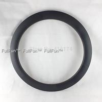 FULLFUN 60mm 28mm wide Clincher Disc Brake Carbon Rims 700C Wheels Road Bike Full Carbon UD Matte One Piece U Shape Fixed Gear