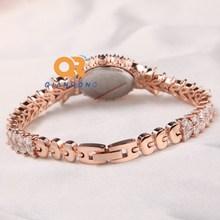New arrival women luxury rhinestone watch bracelet lady dress elegance charms watches full analog diamond stainless