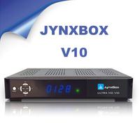 DHL Free Shipping Full HD Digital Satellite Receiver Jynxbox Ultra hd v10 support Twin tuner and wifi jynxbox v10 set top box