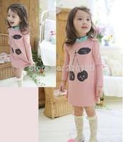 new  girls cherry dress unlined upper garment foreign trade children's clothing wholesale E072235