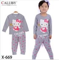 X-669 pajamas clothes sets fashion cartoon elsa anna olaf kids baby girls children pajamas clothing sets spring autumn clothes