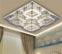 modern 4 head LED K9 crystal aisle lights corridor porch lamp square ceiling lamps led ceiling light