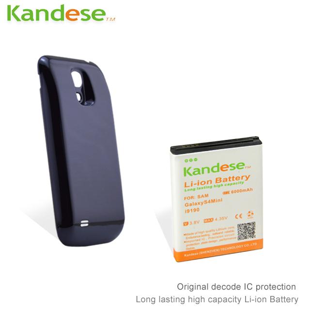 10pcs/lot Battery Samsung Galaxy s4 mini Batteryi9190 Battery Samsung Battery Kandese High Capacity With Cover(China (Mainland))
