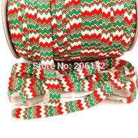 Christmas Elastic FOE Ribbon Elastic Webbing For DIY Hair Band Hair Accessories