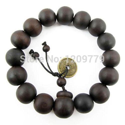 Buddhist Tibetan Decor Prayer beads Bracelet Bangle Wrist Ornament Wood Buddha Beads Women Jewelry Religion Charm H5071 P(China (Mainland))