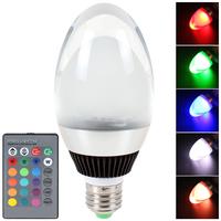 E27 10W RGB SMD5730 LED Light Crystal Christmas Lamp 16 Colors + 6 Light Modes + Remote Control