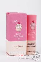 2015 Hot seling 6color/flavor/lot 3.8g cupcake lock water double moist  lipstick Lip Balm lipbalm.free shipping