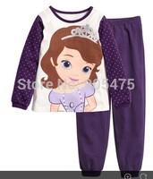 2015 new  FROZEN Elsa and Anna baby lovely pyjamas suit boy's underwear clothing sets kids clear suits 2pcs sets 6 sets/lot #011