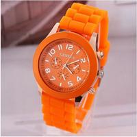 Casual Watch Geneva Unisex Quartz watch, women Analog wristwatches Sports Watches Rose Gold Silicone watches Dropship