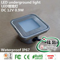 Free shipping IP67 0.6W LED underground light set: 6pcs led light & 1pc 8W LED driver & 1pc T connecting cable (FH-SC-F105A)