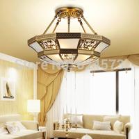Pendant light small living room lights pendant light restaurant lamp bedroom lamp copper ceiling lamp fashion pendant light