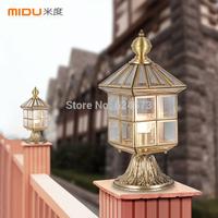 European pillar lamp full copper lamp outdoor the door pillars light walled garden courtyard lamps and lanterns