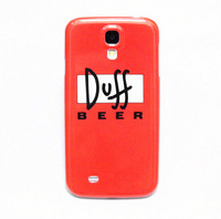 Cool Duff Beer Pattern Hard Back Cover Case Skin For Samsung Galaxy S4 i9500 Free shipping