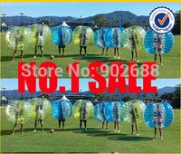 12 pcs 1.2M Bubble Football Body Zorbing Free shipping (6Blue dot + 6yellow dot )