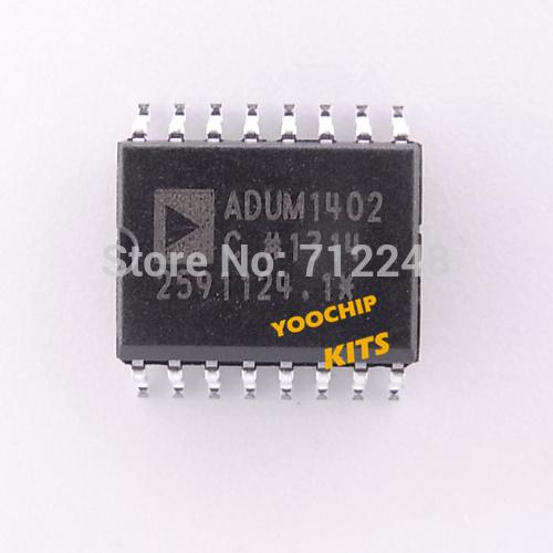 Free shipping 3pcs ADUM1402CRWZ ADI SOP-16 Quad-Channel Digital Isolators Industrial field bus isolation application(China (Mainland))