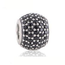 Wholesale CZ Pave Ball Charm 925 Sterling Silver Fits European Pandora Charm Bracelets Necklaces LW170