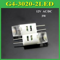 New Arrival Mini 3W G4 DC/AC 12V 3020 SMD Ultra Bright LED Crytal Lamp Corn Bulb Droplight Chandelier COB Spotlight,10Pcs