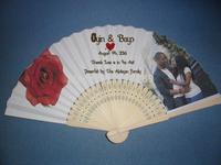 Free Shipping  china factory customized bamboo fabric Wedding  fan