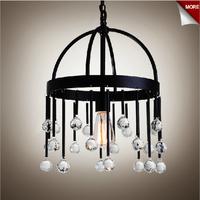 European American retro style rustic crystal chandeliers bedroom living room hallway crystal chandelier