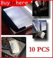 10PCS Portable Booklight Clip LED Light Flat Plate Panel Book Reading Lamp Paperback Night Car Travel