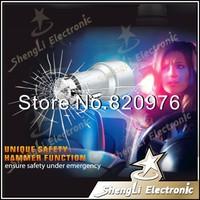 2014 Brand New 5V 2.1A Multi-function Stainless Steel Car Cigarette Lighter Socket Car Charger Adapter Safety Emergency Hammer