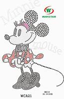 Minnie mouse  Rhinestone Transfer Wholesale Available heat wholesale heat transfer rhinestone appliques