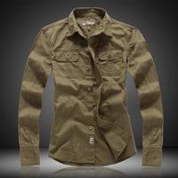 2015 Mens Slim fit Unique neckline stylish Dress long Sleeve Cargo Shirts Mens dress shirts 2colors,size: M-XXL