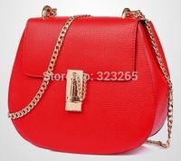 Upscale chain bag, shoulder bag diagonal package oval, star favorite bag, soft leather small bag