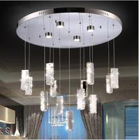 modern13 head silver crystal chandelier Living Room Restaurant crystal chandelier LED lamp / light / lighting , LED round lights
