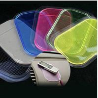 Top quality Powerful Anti Slip Non Slip Mat for Phone PDA mp3 mp4 Car Anti slip Pad Multicolor Silica Gel Magic Sticky Pad 10pcs