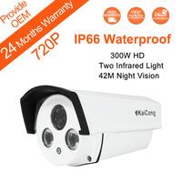 FREE SHIPPING 720P Mega pixel 1280*720 Pixels IP66 Waterproof HD IP Camera 50M NightVersion P2P H.264 Algorithm KaiCong Sip1304