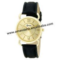 100pcs/lot 2015 New Women Man Leather Wristwatches Hot Charm Geneva Bracelet Quartz Watch Fashion Women Dress Watches