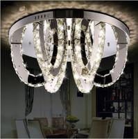 Modern silver LED k9 crystal chandelier bedroom restaurant LED lamps/ crystal  chandelier lighting, LED circular lamp