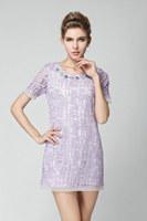 plus size L-5XL 2015 new fashion women organza embroidery soild color short sleeve O neck summer dress casual dress work dress
