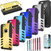 New Rubber Armor Hybrid Best Impact Hard Case Cover For Apple iPhone 6 plus 5.5 Inch