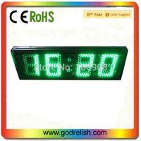 "High 5"" Brightness 4 digits 7segment led alarm clock visual in sunshine"