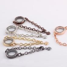 New Circle Diy Photo Frame Phase Floating Living Memory Locket Bracelet Fashion Jewelry Fashion Accessories(China (Mainland))