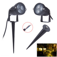 9W Outdoor Garden Light LED Lawn lamp Waterproof LED Flood Spot Light Warm Cool White with insert needle pin 110V-240V